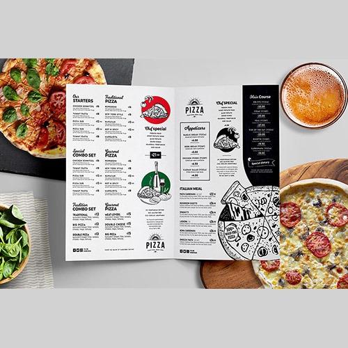 Modelo padrão de cardápio de pizzaria