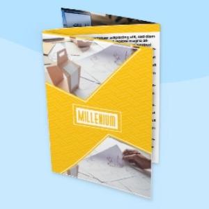 modelo de folder com 2 dobras