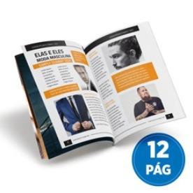 modelo de impressão de revistas