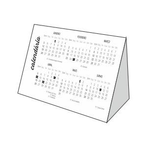 modelo de calendario de mesa