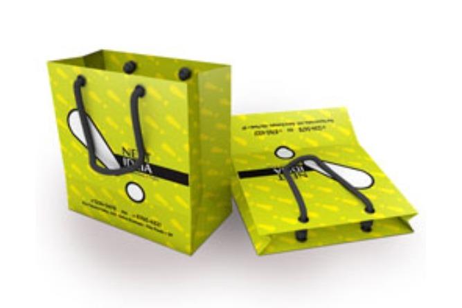 modelo de sacolinha de papel impresso