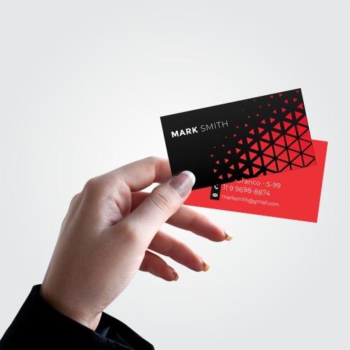 cartão de visitas frente e verso